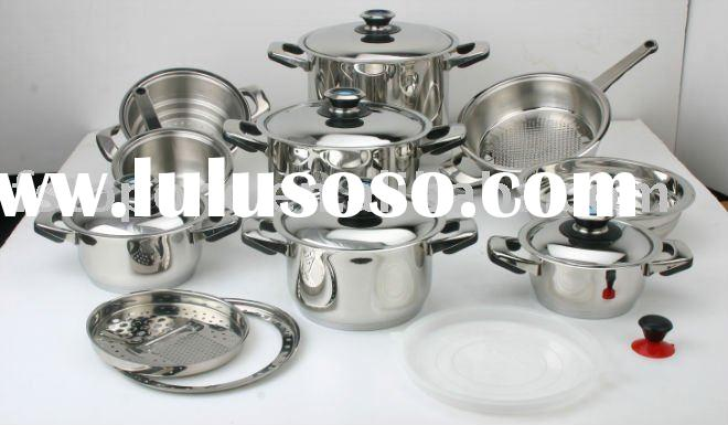 stainless steel kitchen cookware set