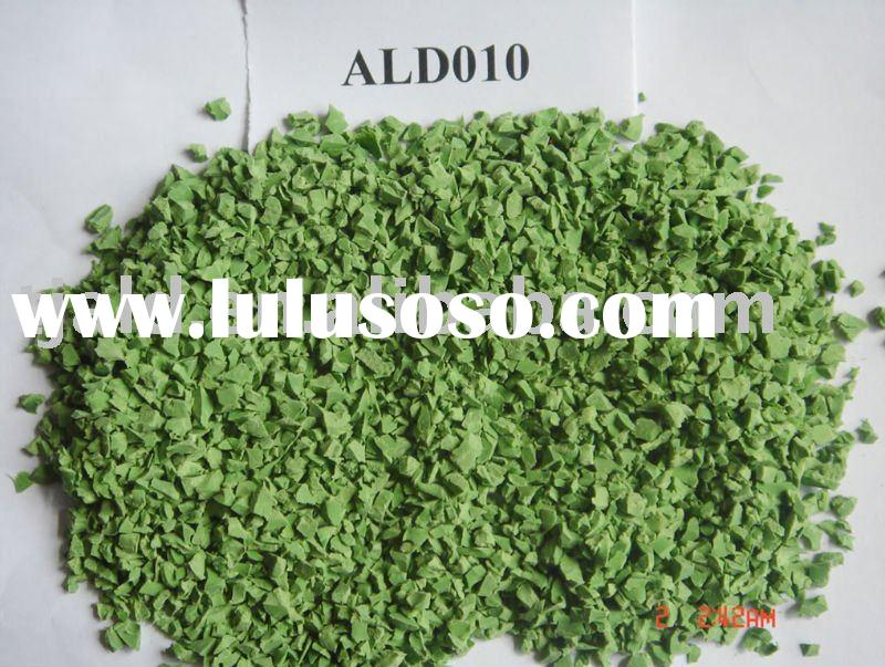 EPDM synthetic rubber granules (Green) ALD010