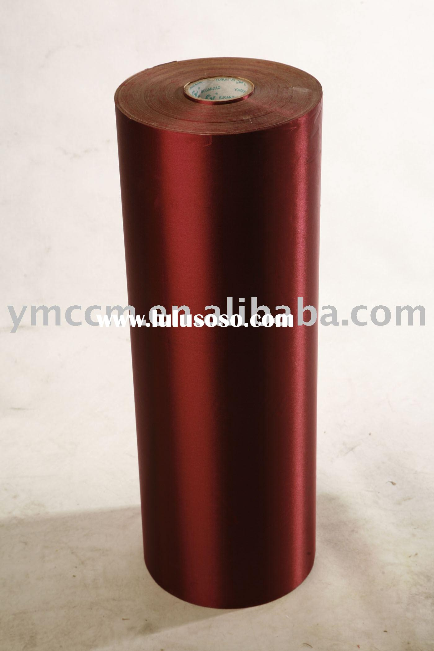 Red self-adhesive  textile sticker