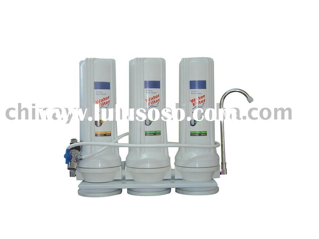TRIPLE-STAGE COUNTER TOP HOME WATER  FILTER SYSTEM