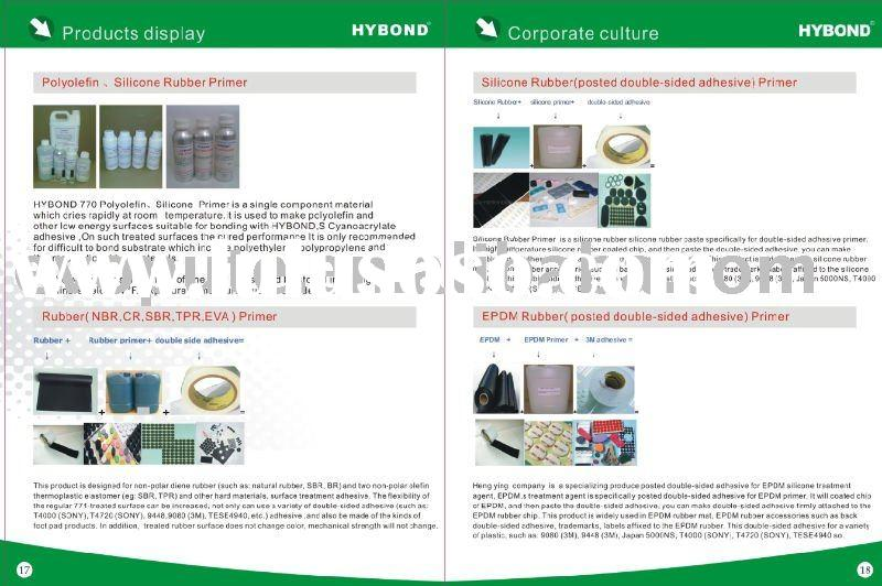 silicone rubber  promoter/primer for double side adhesive