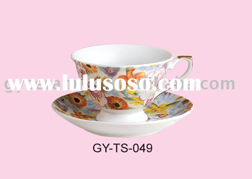 220cc porcelain tea cup and saucer set