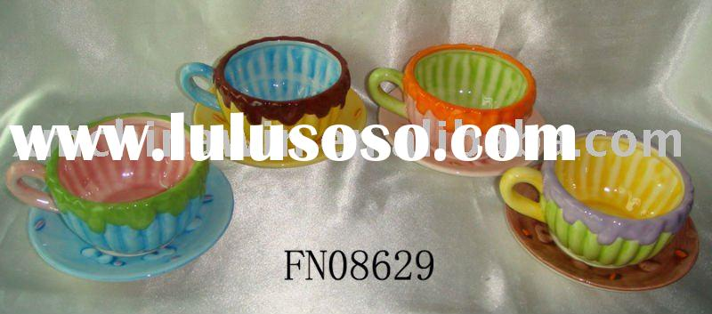 Beautiful tea cup and saucer sets(FN08629)
