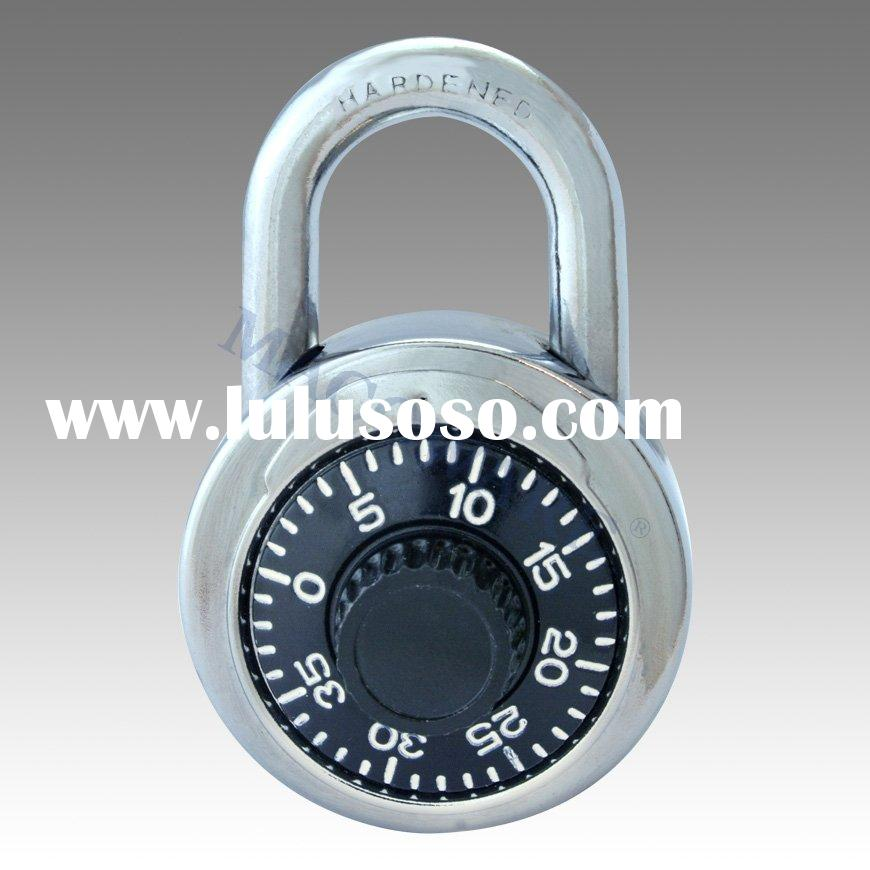 Combination Padlock with Automatic Locking Lever