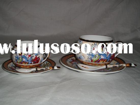 Disposable Porcelain Tea Cups and Saucers