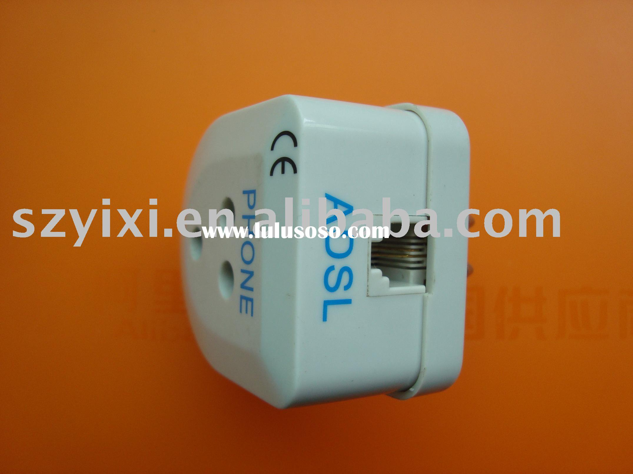 Italy adsl filter and splitter plug adapter
