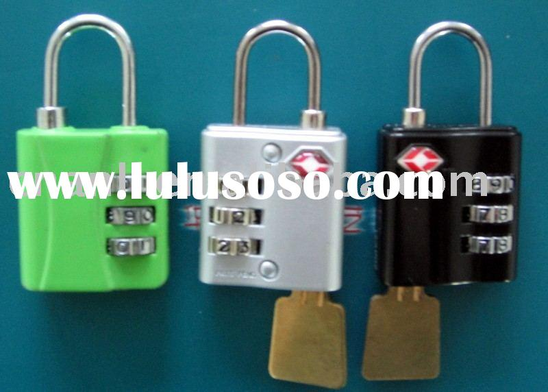 TSA pad lock Zinc Combination Padlock With Master Key