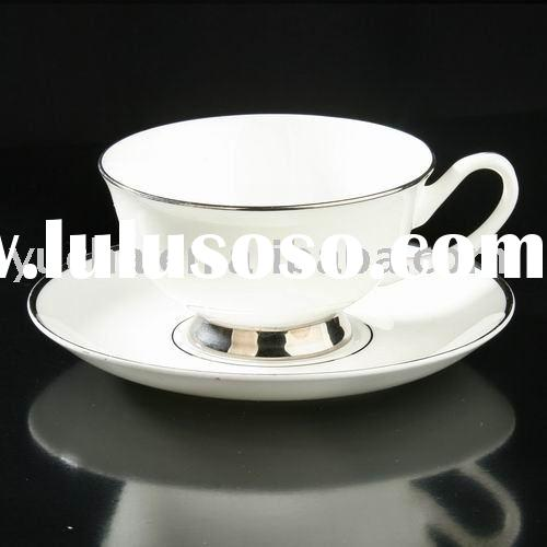 bone china tea and coffee cup and saucer