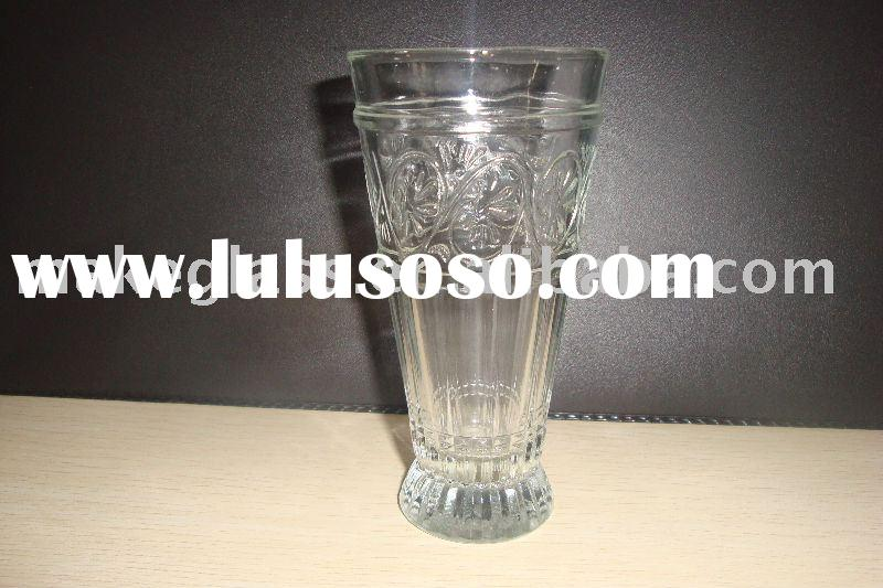 cylinder drinking glasses/glass tumbler