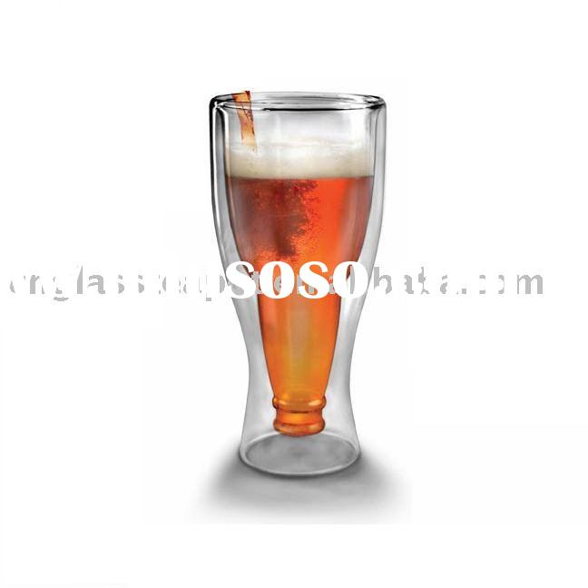 double wall beer glass  (E09023)