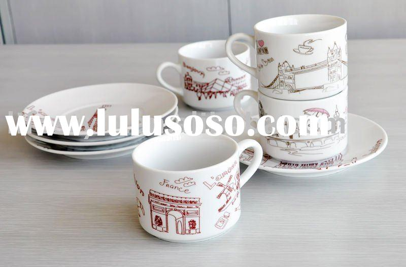 porcelain espresso cup and saucer