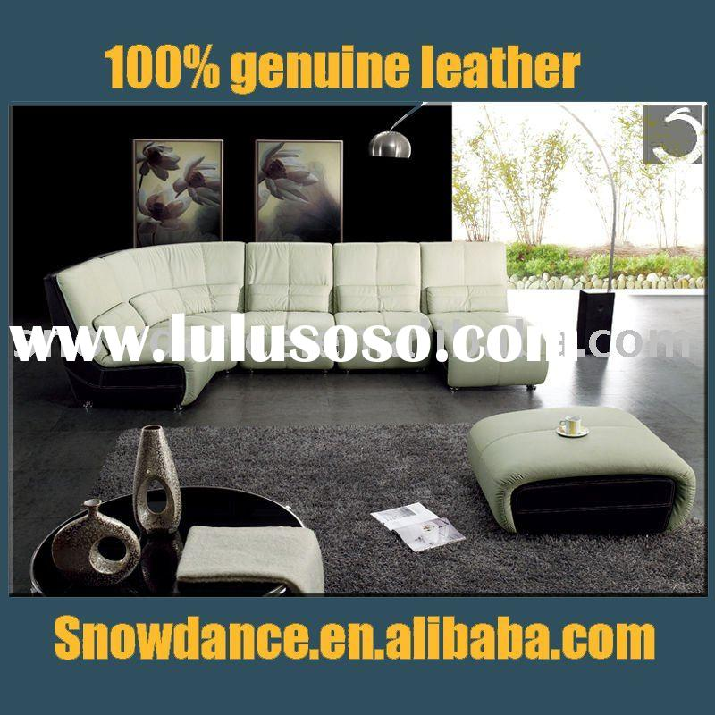 2011# modern leather living room furniture