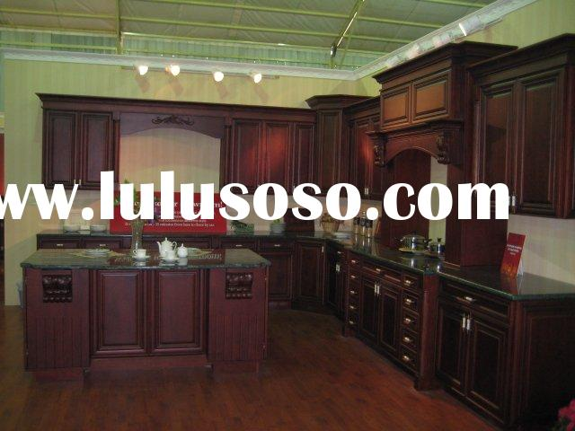 Antique Design Solid Wood Kitchen Cabinet,Kitchen Furniture