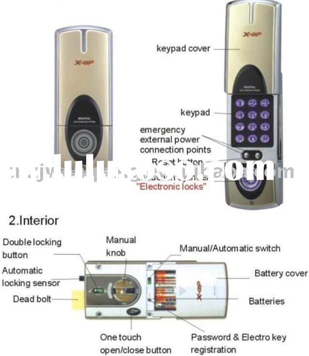 Electronic lock with auto door lock system