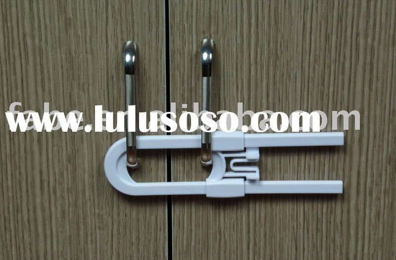 Safety sliding cabinet lock