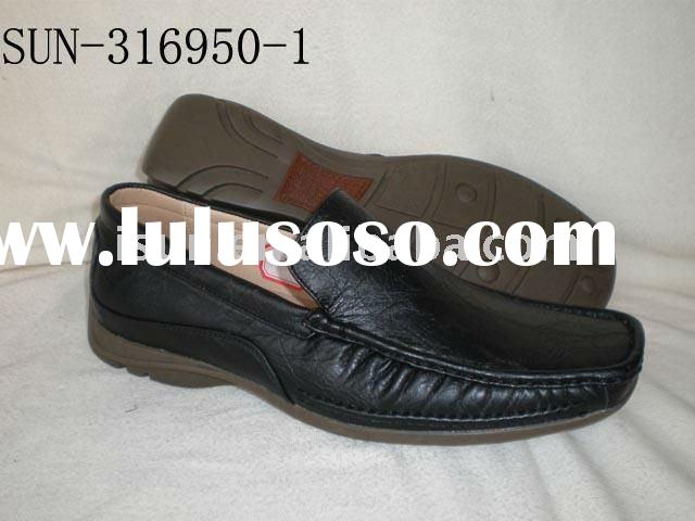 WENZHOU SHOE SUN316950-1(men casual leather loafer shoes)