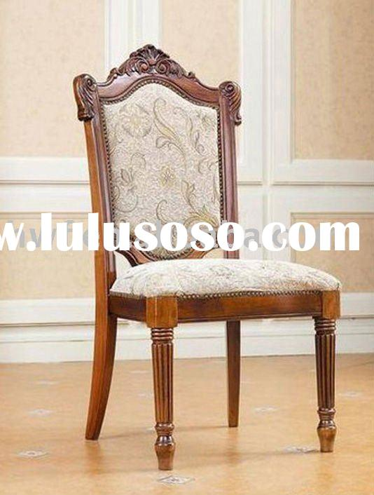antique wood dining chair