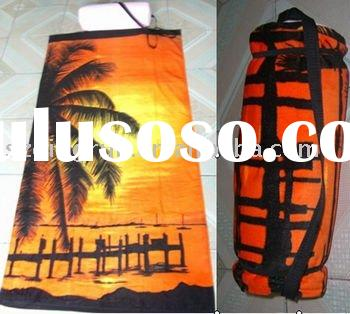 beach towel inflatable pillow