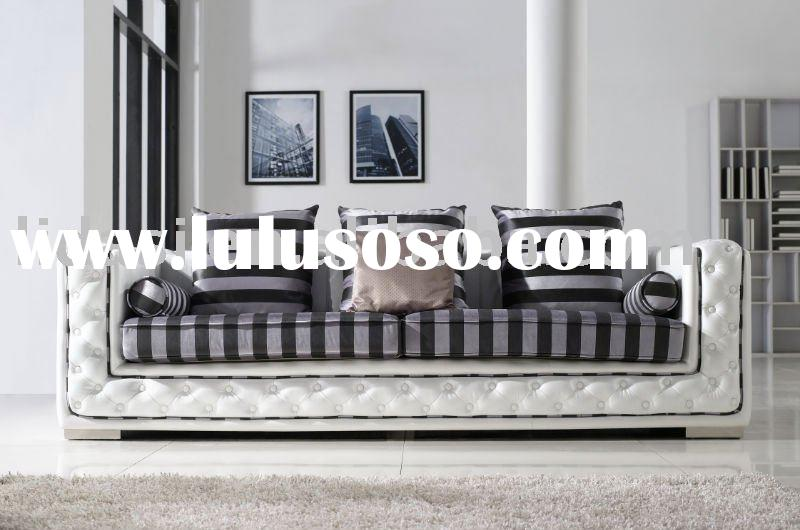 fashion modern living room furniture leather fabric sofa