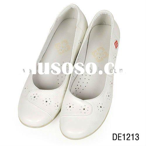 hospital nurse doctor shoes,white leather shoes for nurse,high quality and comfortable breathable