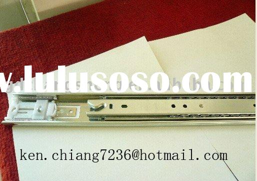 hot sale top quality 45mm 3-fold #3045-HC01 full extension ball bearing telescopic self lock slide