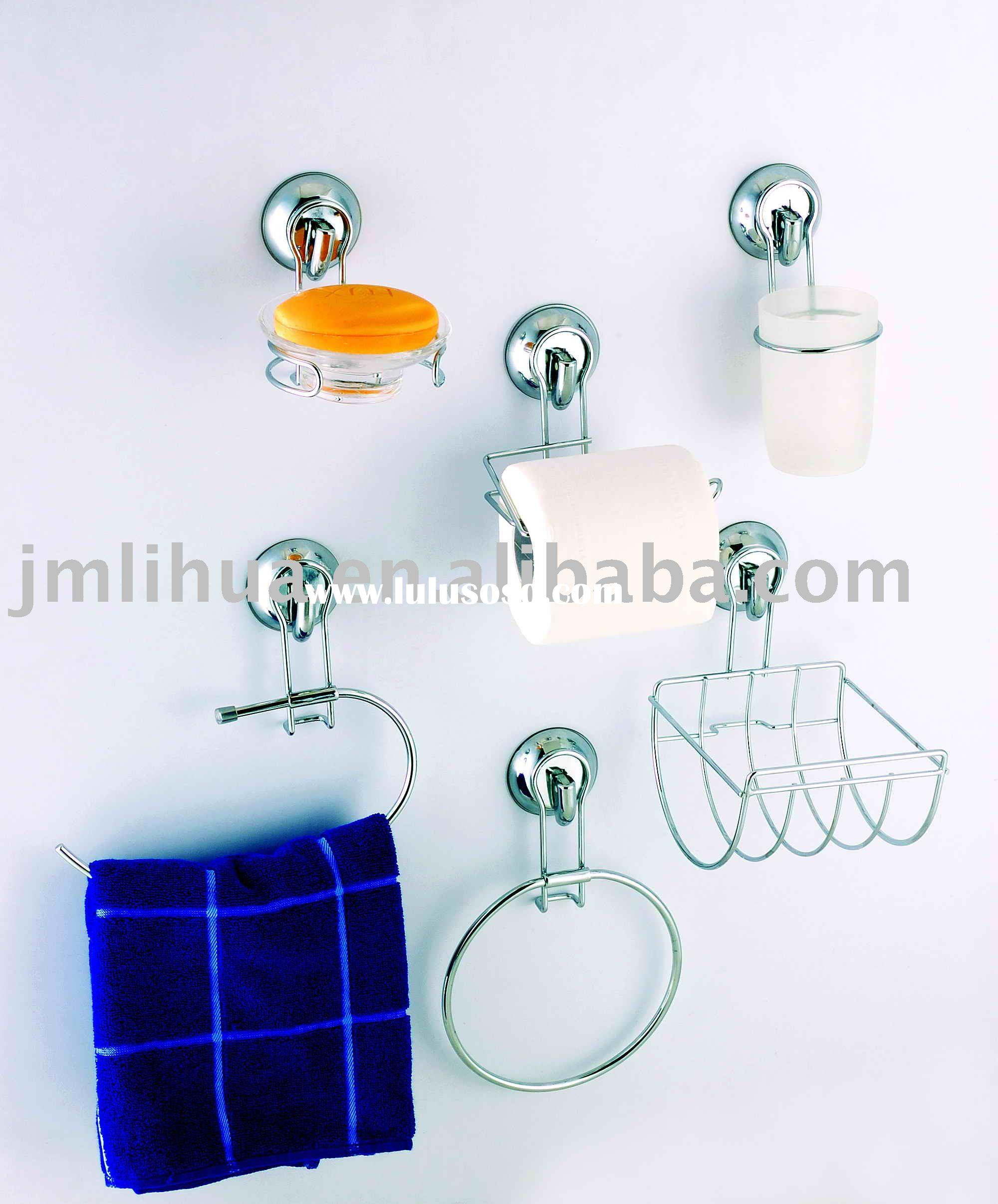 Chrome Bathroom Accessory with Suction Cup