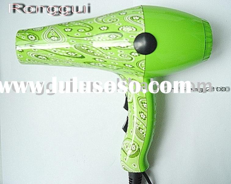 Green compact ionic hair dryer(new hair dryer,Design hair dryer)