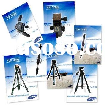 Professional video camera tripod, monopod, 3 way head, ball head
