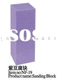 Purple Nail Buffer Buffing Sanding Block Nail Art File NF-19