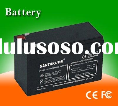 12V 7AH VRLA lead acid battery/ AGM battery/ Deep cycle battery for UPS,Alarm System,Seciurity Syste