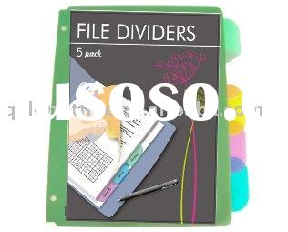 A4 tab dividers for 3 ring binder