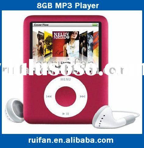 "Gift+Free shipping 100% NEW STYLE 8GB 1.8"" 3TH FM MP3 MP4 PLAYERS"