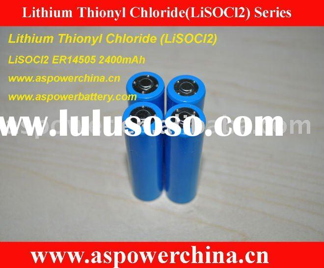 Lithium Thionyl Chloride LiSOCl2 Primary Battery ER14505 Cylindrical Lithium Thionyl Chloride Batter