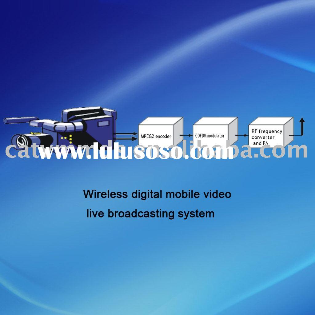 Wireless digital mobile video live broadcasting system