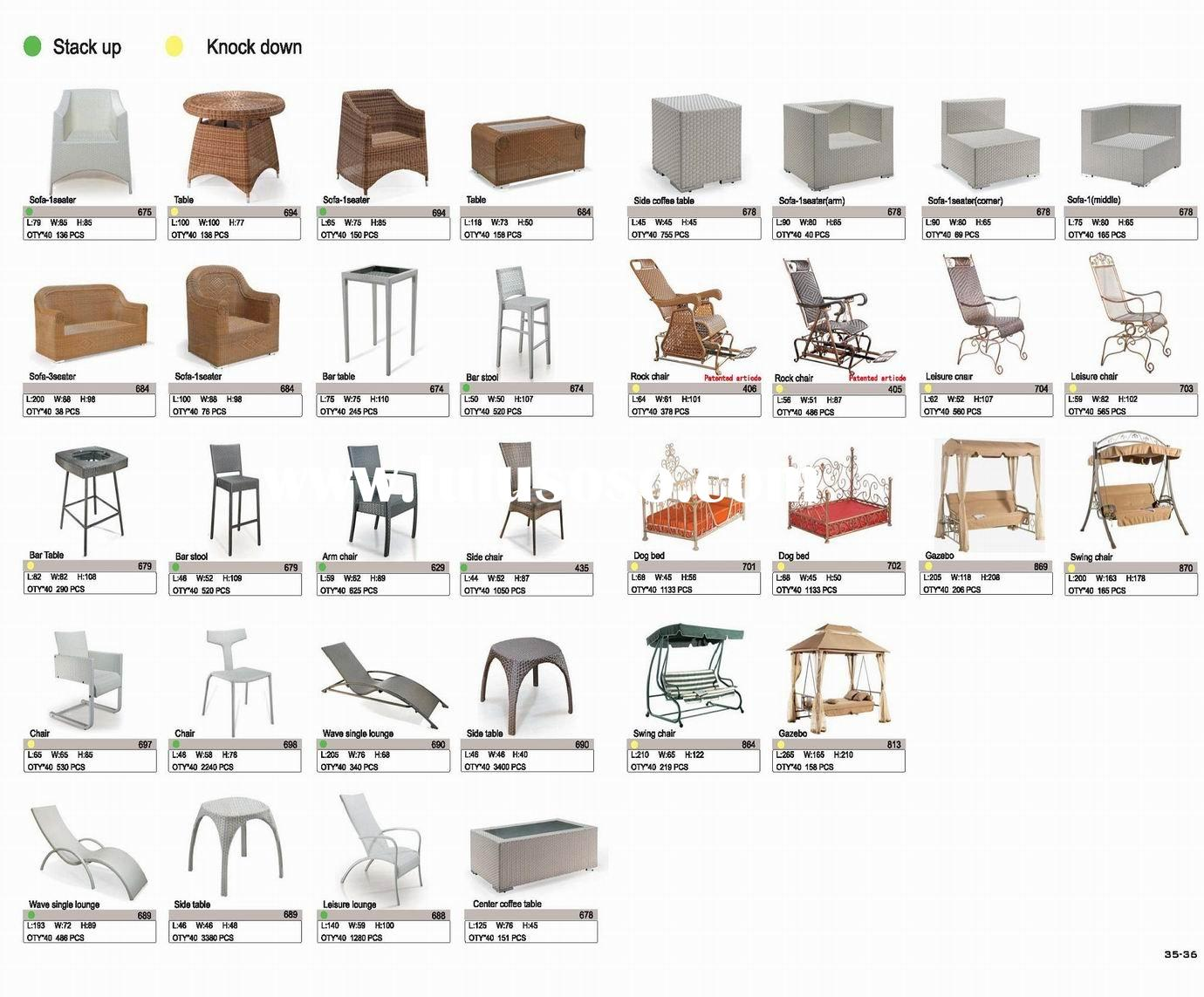rattan leisure chair and table set sofa set bar table and stool set center side table rock chair gaz