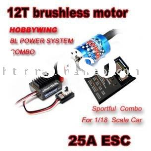 1/18 RC Racing Car Truck 12T brushless motor + 25A ESC
