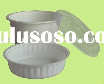 round plastic food tray with lid