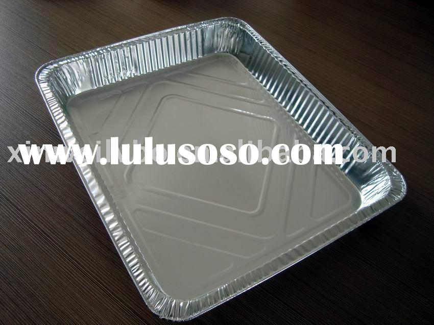 tin plate/aluminum foil container/foil pan/disposable food container