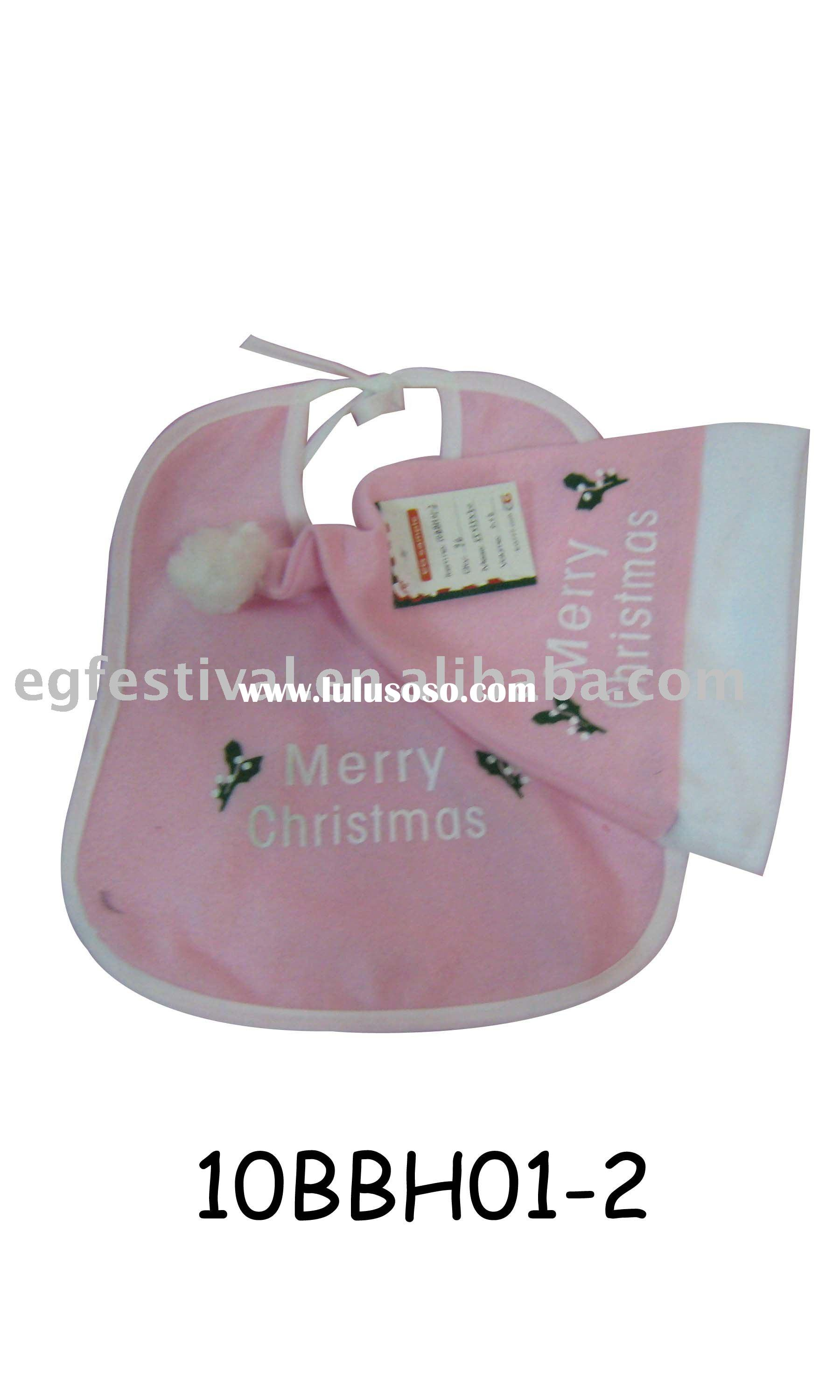 Baby bibs & Baby embroidery bibs&Baby bibs with printing  10BBH01-2