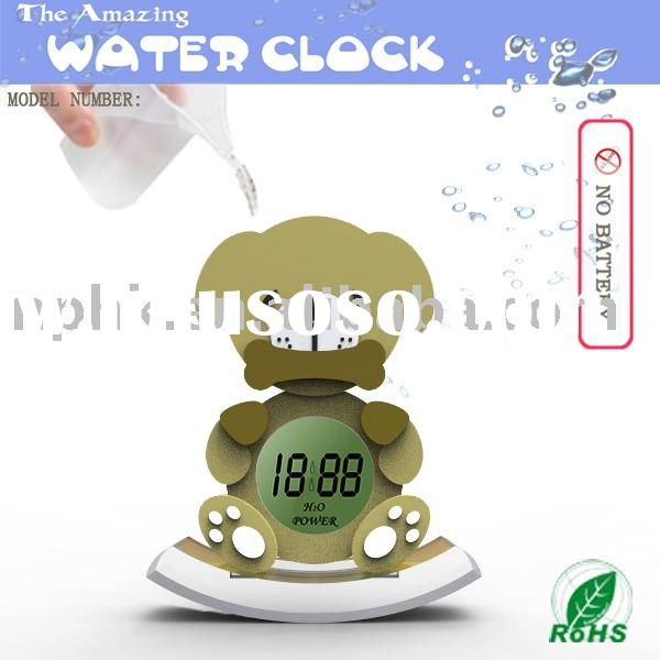 Cartoon water power clock(NP-C002)/novel products/promotional products/crafts/Eco-friendly products