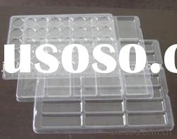 Clear PET plastic blistering tray for frozen food packaging