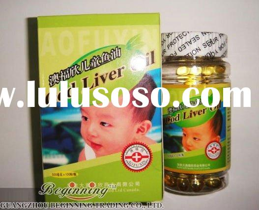 Cod Liver Fish Oil for Children & Youth dietary supplement