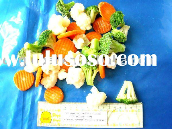 IQF frozen mixed vegetables(broccoli, cauliflower,carrot slices) most popular in Europe and US!!