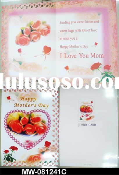 Mother's day Jumbo paper  card
