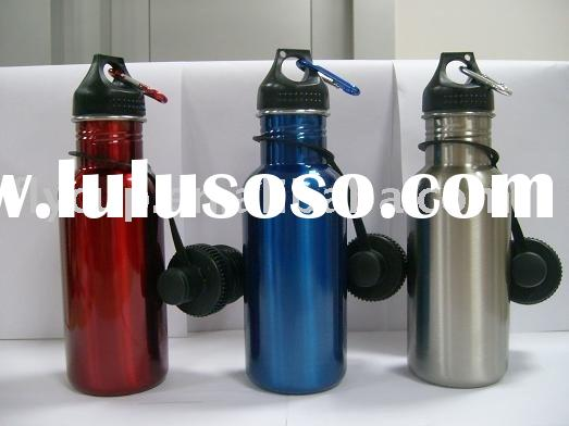 Wide Mouth Stainless Steel Colored Water Bottle