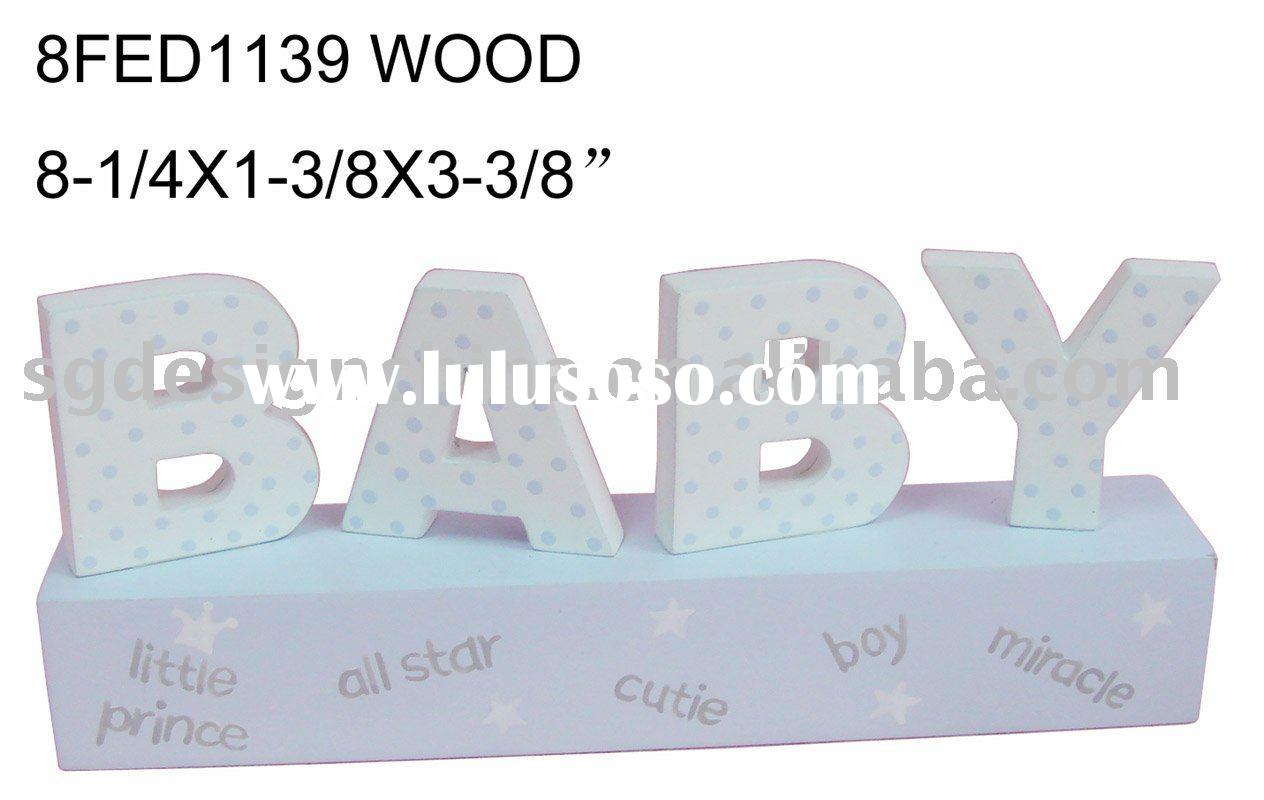 baby collection wood crafts wood letter