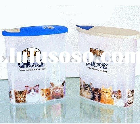 pet food container cat food dog food plastic container