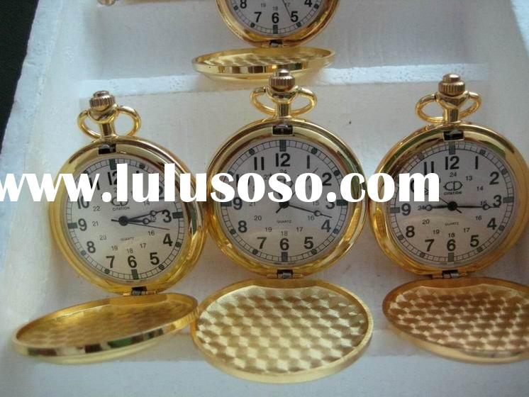 shining gold pocket watch for Father's Day or Mother's Day ARS-1023