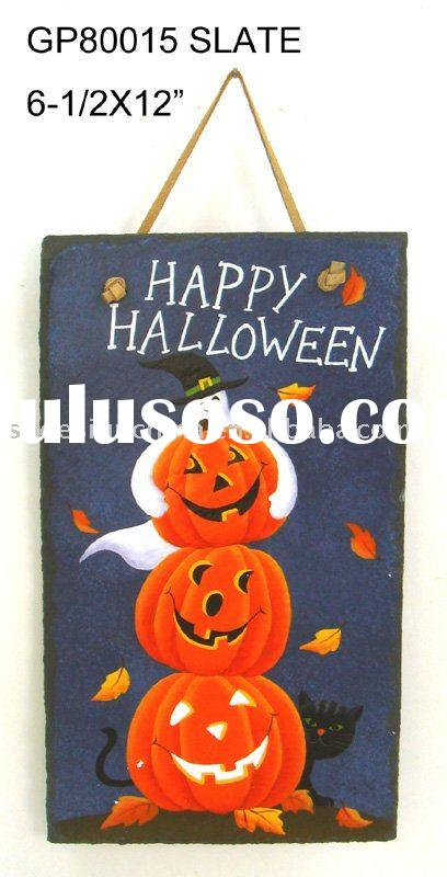 slate sign decoration halloween pumpkin