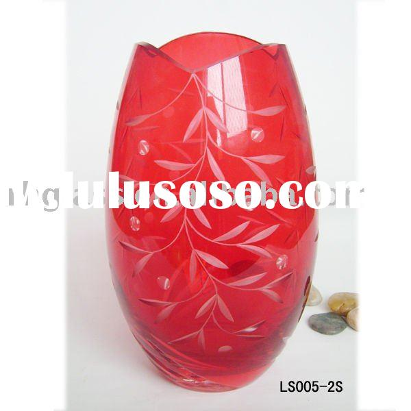 2011 fashion style vase/glass vase/home decoration/glassware/glass crafts HOT sales/RH-G-LS005-2S